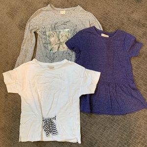 Tshirt bundle ZARA and TUCKER+TATE girls size 7